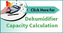 Dehumidifier capacity calculation