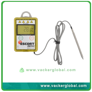 Temperature data logger with external probe