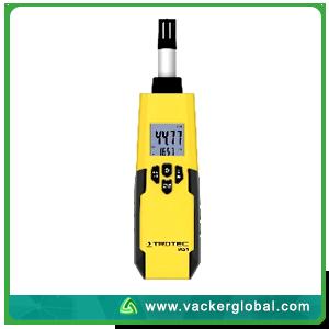 Digital Hygrometer Front View Vacker Global