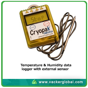 Cold box with USB data logger VackerGlobal